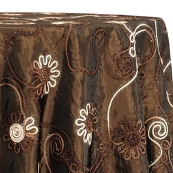 Eyelash Embroidery Table Linen in Brown