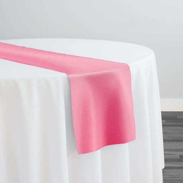 Lamour (Dull) Satin Table Runner in Bubble Gum 1688