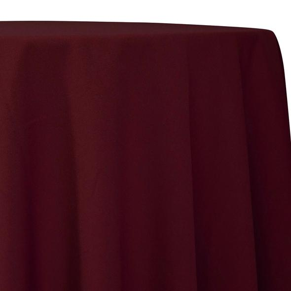 Burgundy Tablecloth in Polyester for Weddings