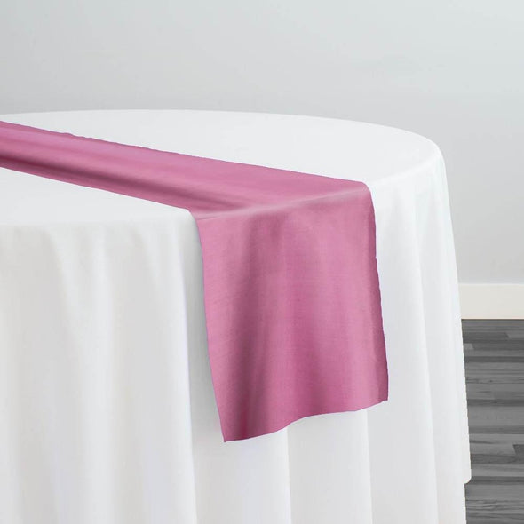 Crystal Organza Table Runner in Burgundy D 530