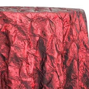 Belly Button (Pinwheel) Table Linen in Burgundy