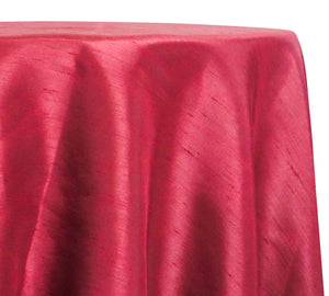 Shantung Satin (Reversible) Table Linen in Burgundy