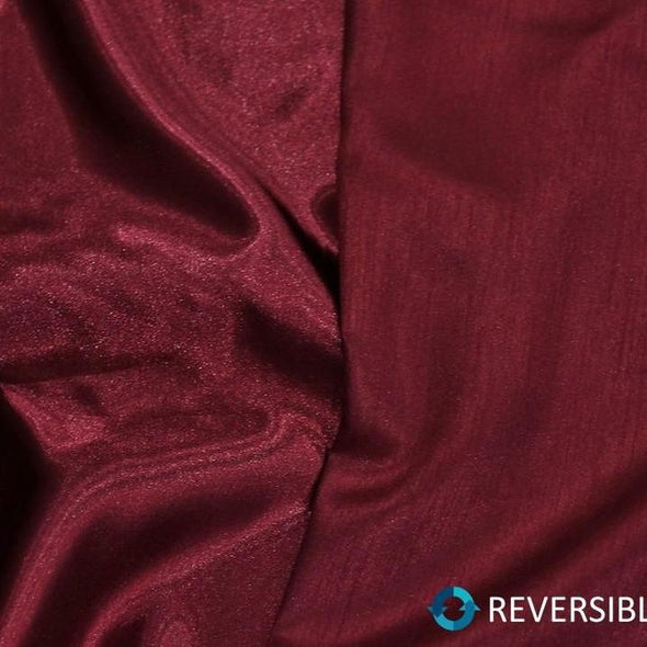 Shantung Satin Table Runner in Burgundy