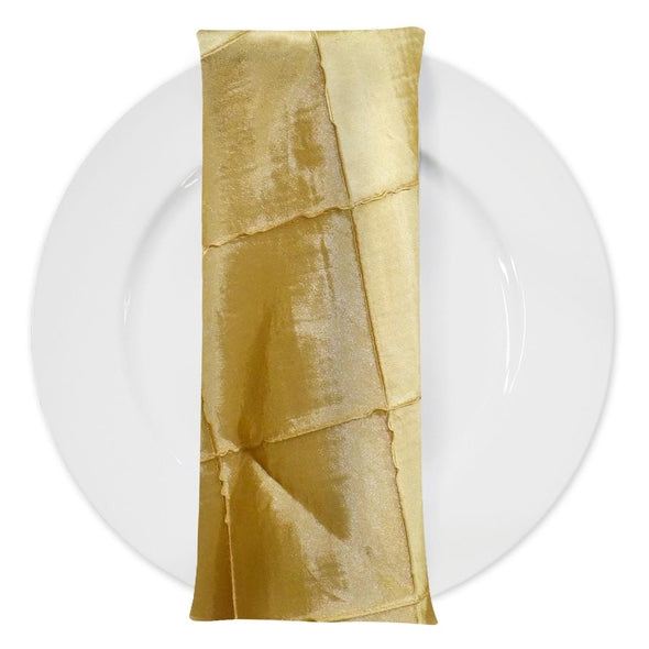 "4"" Pintuck Taffeta Table Napkin in Buttercup 114"
