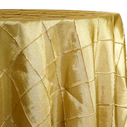 "4"" Pintuck Taffeta Table Linen in Buttercup 114"