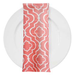 Gatsby Print (Lamour) Table Napkin in Coral