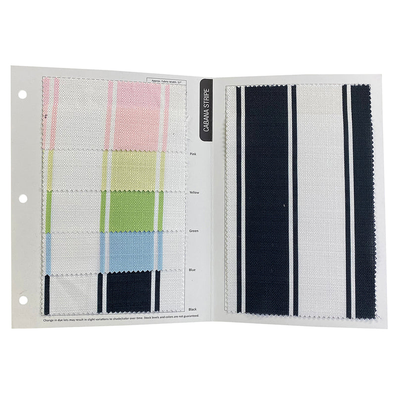 Cabana Stripe Table Runner in Blue