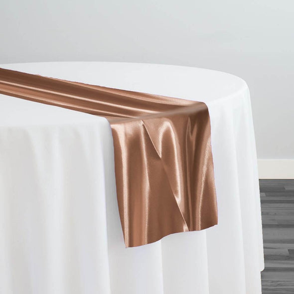 Bridal Satin Table Runner in Camel 249