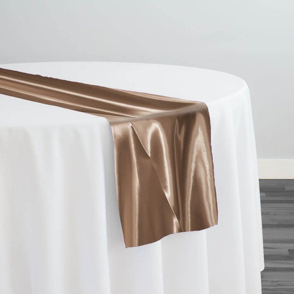 Bridal Satin Table Runner in Capuccino 47