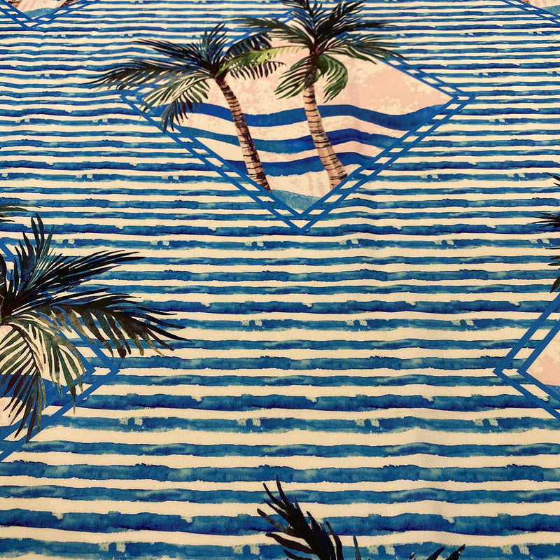 Caribbean Blues (Poly Print) Table Napkin