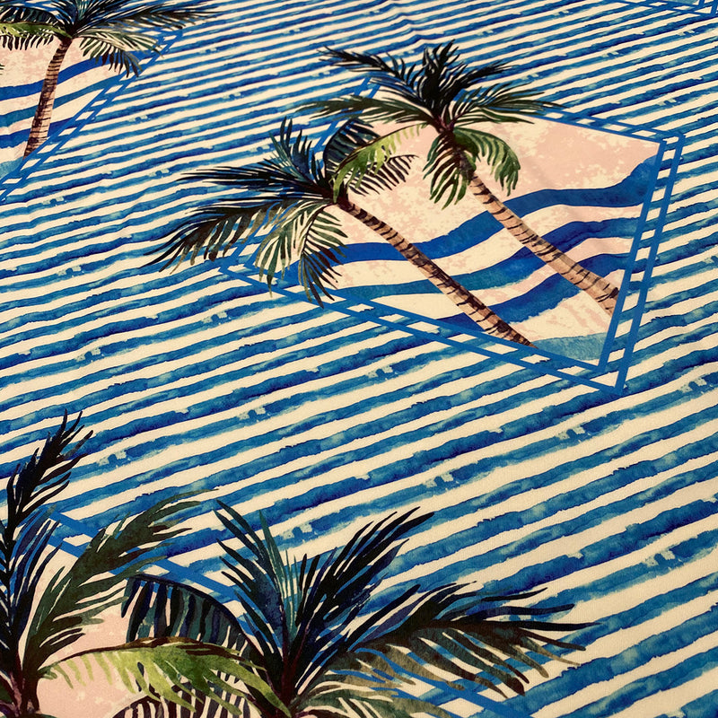 Caribbean Blues (Poly Print) Wholesale Fabric