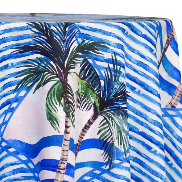 Caribbean Blues (Poly Print) Table Linen