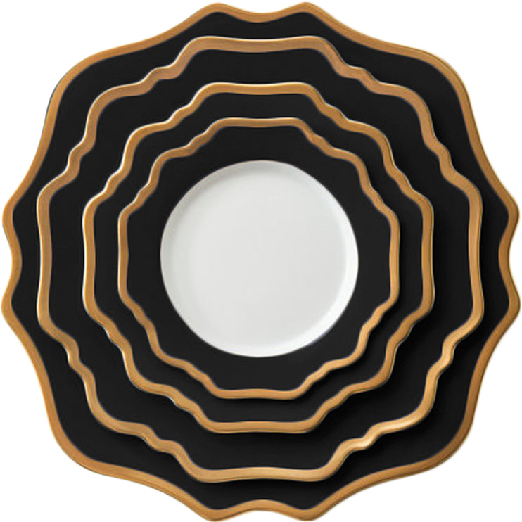 Casablanca Porcelain Collection in Black/Gold