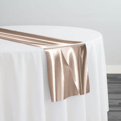 Bridal Satin Table Runner in Champagne 117
