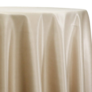 Lamour (Dull) Satin Table Linen in Champagne 1340