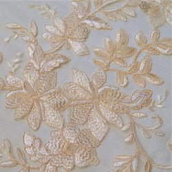 Claire Lace Table Runner in Champagne