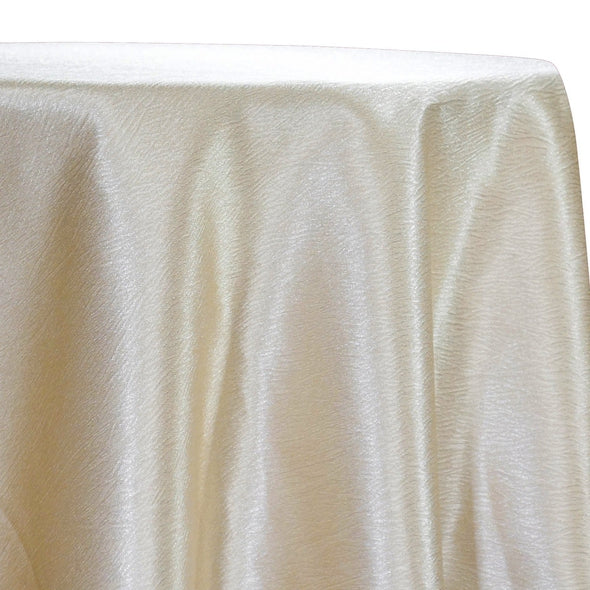 Luxury Satin Table Linen in Champagne