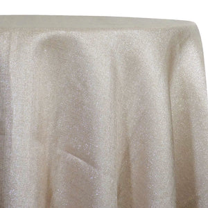 Metallic Burlap (100% Polyester) Table Linen in Champagne
