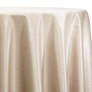 Lamour (Dull) Satin Table Linen in LT Champagne 1441