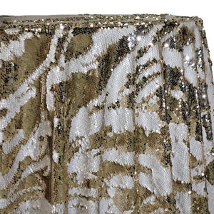 Two-Tone Sequins Table Linen in Champagne and Matte