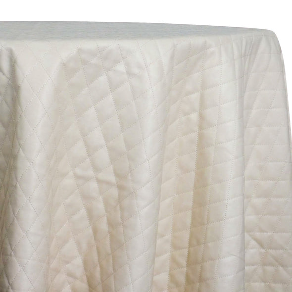 Murano Quilt Table Linen in Champagne