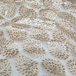 Dahlia Sequins Table Linen in Champagne