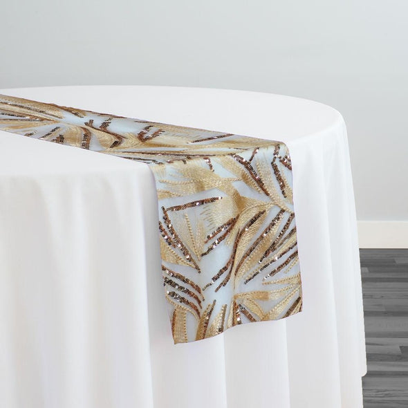 Sparkle Sequins Table Runner in Champagne