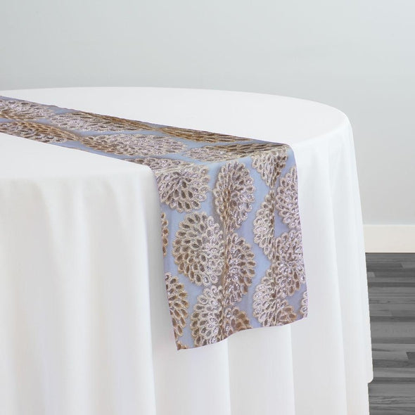 Dahlia Sequins Table Runner in Champagne