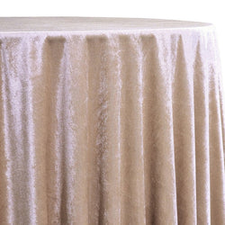Lush Velvet Table Linen in Champagne