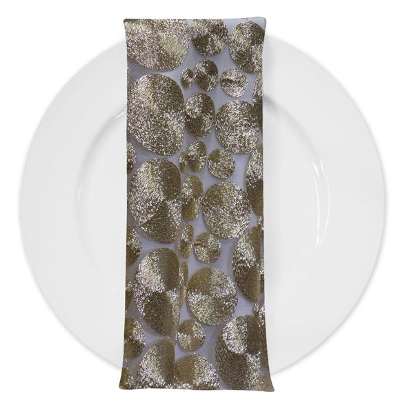 Coin (w/ Poly Lining) Table Napkin in Champagne