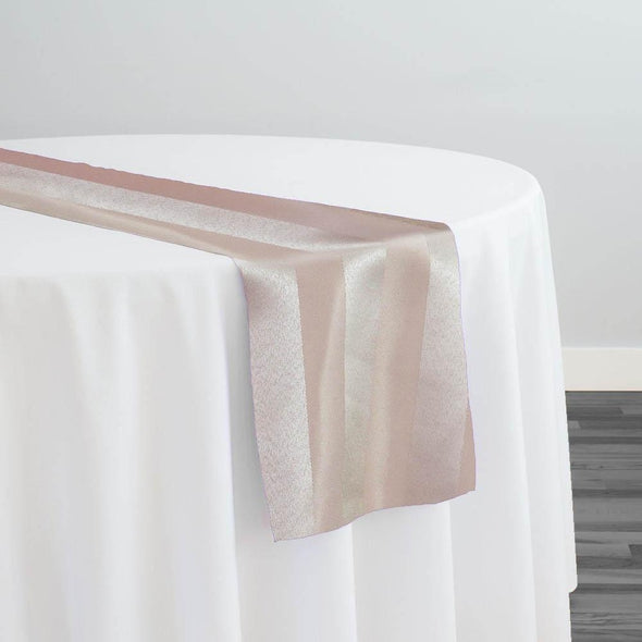 Imperial Stripe Table Runner in Champagne