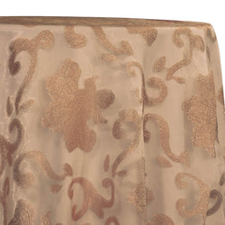 Fleur De Lis Table Linen in Champagne