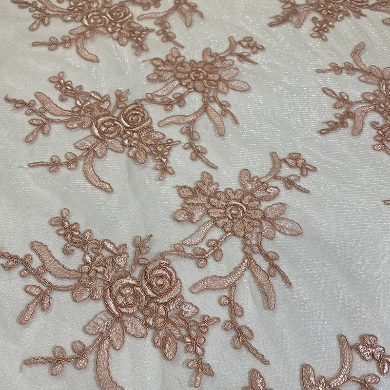 Laylani Lace Table Linen in Champagne