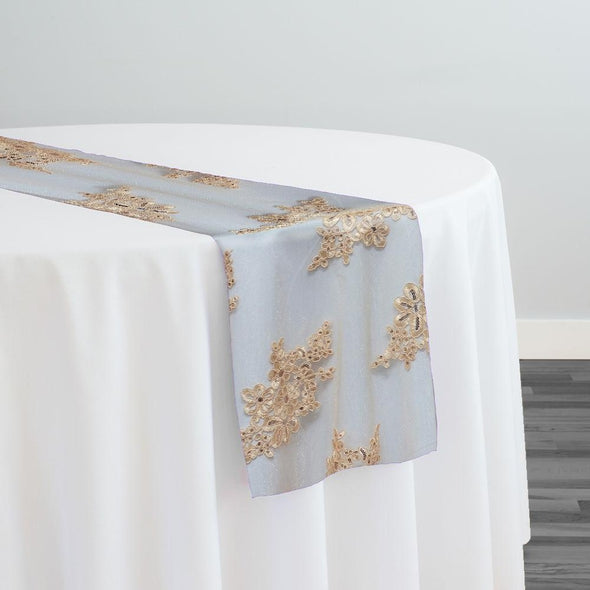 Venetian Lace Table Runner in Champagne