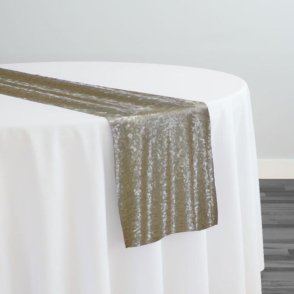 Glitz Sequins Table Runner in Champagne