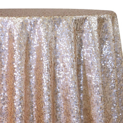 Taffeta Sequins Table Linen in Champagne