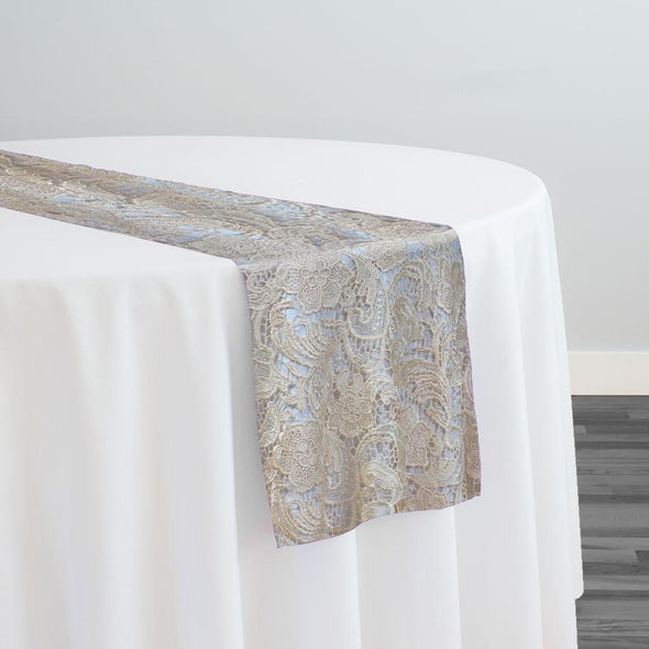 English Lace Table Runner in Champagne