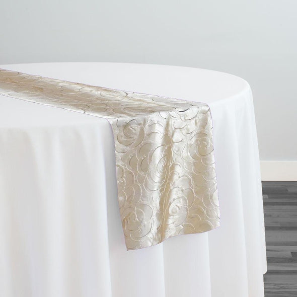 Flora Rose Table Runner in Champagne