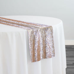 Taffeta Sequins Table Runner in Champagne