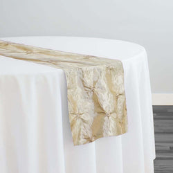 Belly Button (Pinwheel) Table Runner in Champagne