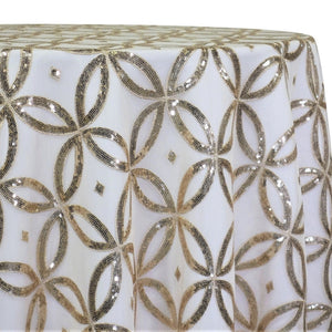 Delano Sequins Table Linen in Champagne