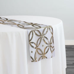 Delano Sequins Table Runner in Champagne