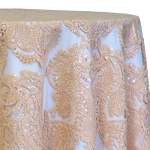 Princess Lace Table Linen in Champagne