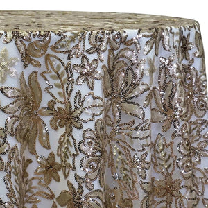 Starlight Sequins Table Linen in Champagne