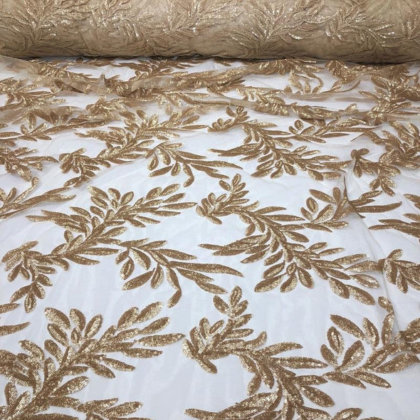 Giselle Sequins Wholesale Fabric in Champagne