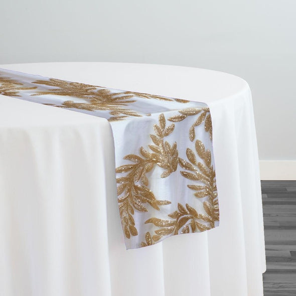 Giselle Sequins Table Runner in Champagne