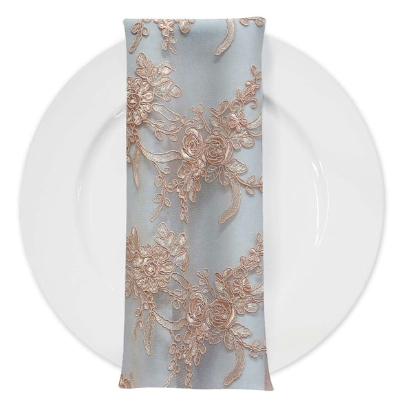 Laylani Lace (w/ Poly Lining) Table Napkin in Champagne