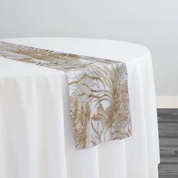 Marigold Sequins Table Runner in Champagne