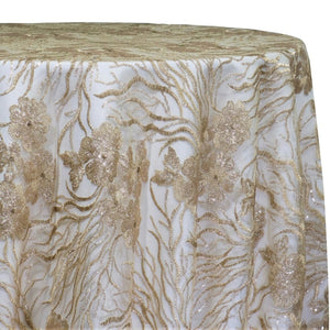Marigold Sequins Table Linen in Champagne