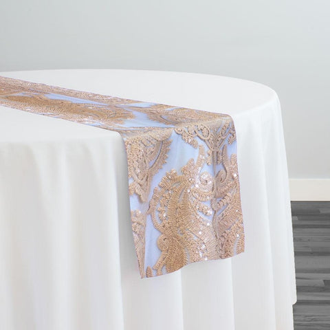 Princess Lace Table Runner in Champagne